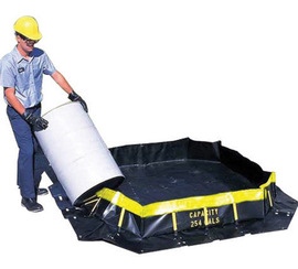 UltraTech 4' X 6' X 1' Ultra-Containment Berms® Black Copolymer 2000™ Spill Containment Berm
