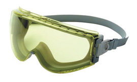 Honeywell Uvex Stealth® Indirect Vent Chemical Splash Impact Goggles With Gray Low Profile Frame And Amber Uvextreme® Anti-Fog Lens