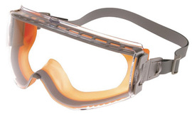 Honeywell Uvex Stealth® Indirect Vent Chemical Splash Impact Goggles With Gray And Orange Low Profile Frame And Clear Uvextreme® Anti-Fog Lens