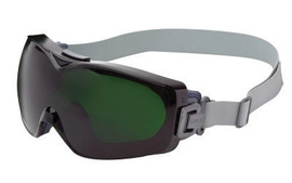 Honeywell Uvex Stealth® OTG Indirect Vent Over The Glasses Goggles With Blue Low Profile Frame And Shade 5 Dura-streme® Anti-Fog/Anti-Scratch Lens