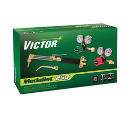 Victor® Medalist® 250 Medium Duty Acetylene Cutting And Welding Outfit With G250 Series Fuel Gas And Oxygen Regulators, CGA-540/510