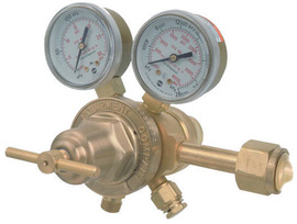 Victor® Model VTS252A-350 Medium Duty Hydrogen And Methane Two Stage Regulator, CGA-350
