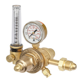 Victor® Model HVTS2570-580 Medium Duty Argon, Carbon Dioxide Mix Or Helium Calibration Two Stage Flowmeter Regulator, CGA-580