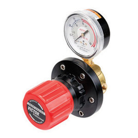 Victor® Model ESL4-15-250A EDGE™ Series Heavy Duty Acetylene Pipeline Line Regulator With Red SLAM™ Safety Knob And Built-In Gauge Guard