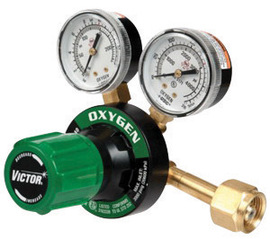 Victor® Model G250-150-540 Medium Duty Oxygen Single Stage Regulator With Color Coded Knob, CGA-540