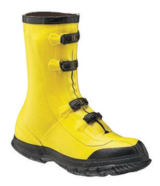 Salisbury By Honeywell Size 7 Yellow Rubber Deep Heel Storm Overshoes With Anti-Skid Bar Tread Outsole
