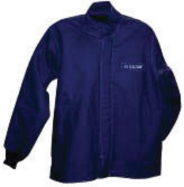SALISBURY By Honeywell 3X Navy Blue Cotton Flame Resistant Arc Flash Coat With Hook And Pile Storm Flap Closure