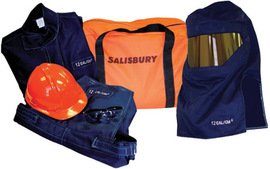 Salisbury by Honeywell Medium Navy Blue PRO-WEAR® Level 2 Flame Resistant Arc Flash Personal Protection Equipment Kit - 8 Cal/Sq-cm