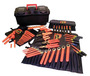SALISBURY By Honeywell 60 Piece Deluxe Maintenance Hot Box Insulated Tool Kit With Tool Rolls (Includes (7) Screwdrivers, (7) Nut Drivers, (1) Torque Wrench, (1) Reversible Ratchet, (2) Extensions, (10) Socket Set, (11) Box End Wrench Set, (14) Hex Wrench Set, (5) Plier, (1) Combination Stripper/Crimper Plier And Plastic Case)