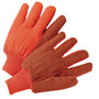 West Chester Large Hi-Viz Orange 18 Ounce Medium Weight Cotton/Polyester Canvas Fully Corded Gloves With Knit Wrist, Straight Thumb, Standard Lining, PVC Dotted Double Palm And Clute Cut