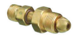 Western CGA-580 X CGA-346 Brass Cylinder To Regulator Adapter
