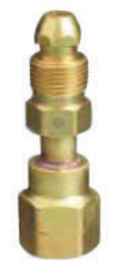 Western CGA-500 X CGA-590 Brass Cylinder To Regulator Adapter