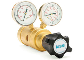 Airgas® Brass LaserPLUS™ Dome-Loaded High Flow Cylinder Regulator 0-500 PSI Delivery