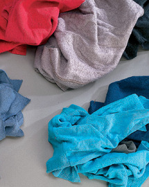 Y-pers Assorted Colors Cotton Sweatshirt Rags (25 Pounds Per Case)