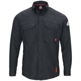 Bulwark® 3X Regular Navy Aramid Lyocell Modacrylic Long Sleeve Flame Resistant Work Shirt