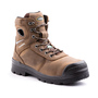 TERRA Size 7 Brown Marshal Leather Composite Toe Safety Boots With High Traction, Anti F.O.D. Slip Resistant Rubber Outsole