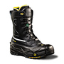 TERRA Size 10 Black Crossbow Leather Composite Toe Winter Boots With High Traction Thermal Tested, Diamond Cleat Design Rubber Outsole