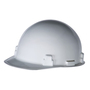 RADNOR® White SmoothDome™ Polyethylene Cap Style Hard Hat With Ratchet Suspension