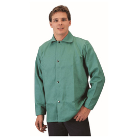 RADNOR® Large Green Cotton/Westex® FR-7A® Flame Resistant Jacket With Snap Front Closure