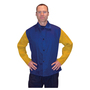 RADNOR® Medium Royal Blue And Gold Westex® FR7A® Cotton And Tanned Side Split Cowhide 30