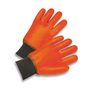 Radnor® Large Orange PVC Jersey Lined Cold Weather Gloves With Safety Cuffs