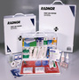 Radnor® White And Black Steel Portable Or Wall Mounted 100 Person 2 Shelf Industrial First Aid Kit