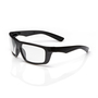 RADNOR® Dynamo™ Black Safety Glasses With Clear Anti-Scratch Lens