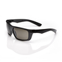RADNOR® Dynamo™ Black Safety Glasses With Gray Anti-Scratch Lens