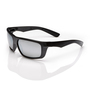 RADNOR® Dynamo™ Black Safety Glasses With Silver Mirror/Anti-Scratch Lens (Lead time for this product may be longer than normal.)