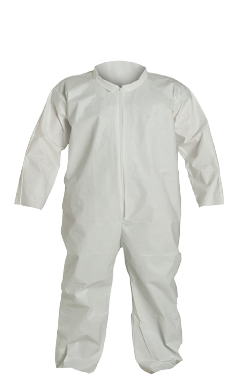 RADNOR® Large White Pro-2 Polypropylene Disposable Coveralls