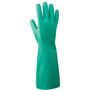 RADNOR® Size 7 Green 17 mil Nitrile Chemical Resistant Gloves