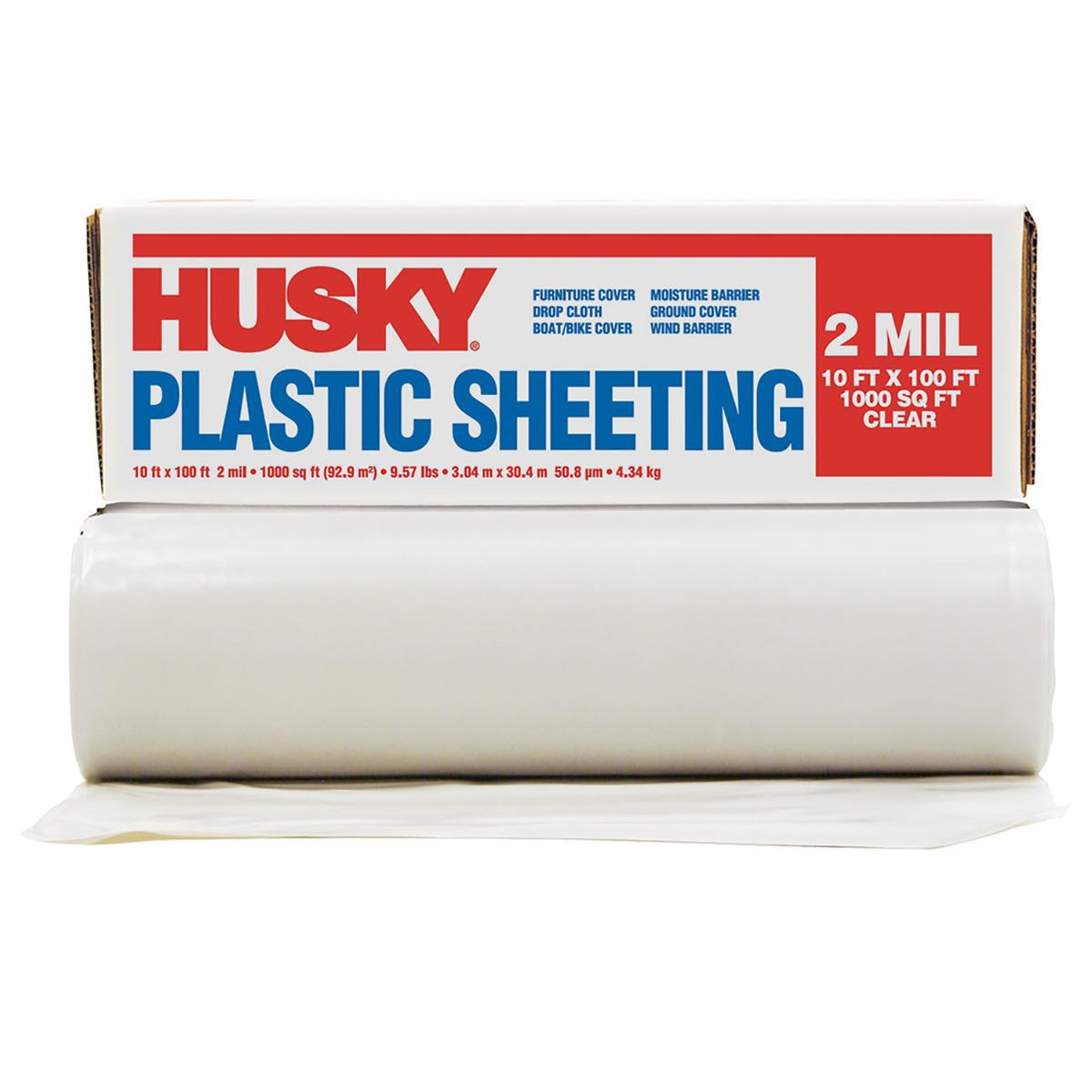Airgas poly america 10 x 100 clear 2 mil polyethylene husky plastic sheeting publicscrutiny Gallery