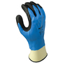 SHOWA® Size 8 13 Gauge Black Foam Nitrile Work Gloves With Seamless Knit Liner And Knit Wrist