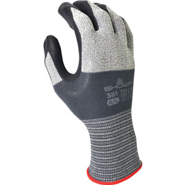 SHOWA® Size 8 13 Gauge Foam Nitrile Palm Coated Work Gloves With Microfiber And Nylon Liner And Knit Wrist