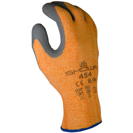 SHOWA® Size 10 Gray And Orange Natural Rubber Polyester/Cotton/Acrylic Lined Cold Weather Gloves