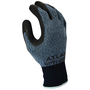 SHOWA® Size 7 ATLAS® 13 Guage Gray And Black Natural Rubber Work Gloves With Nylon/Polyester Liner And Knit Wrist