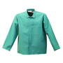 Stanco Safety Products™ 2X Green Cotton Flame Resistant Welding Jacket With Hook And Loop Closure And 2