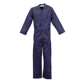 Stanco Safety Products™ Size 4X Tall Navy Blue Indura® Arc Rated Flame Resistant Coveralls With Front Zipper Closure