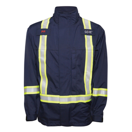 National Safety Apparel Medium Navy Blue GORE-TEX® PYRAD® Foul Weather Flame Resistant Jacket With Zipper Closure