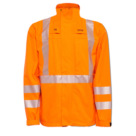 National Safety Apparel 3X Fluorescent Orange GORE-TEX® PYRAD® Foul Weather Flame Resistant Jacket With Zipper Closure