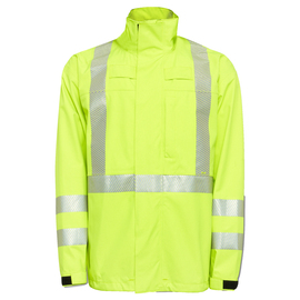 National Safety Apparel Small Fluorescent Yellow GORE-TEX® PYRAD® Foul Weather Flame Resistant Jacket With Zipper Closure