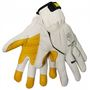 Tillman™ X-Large White And Yellow 1493 TrueFit Full Finger Goatskin And Kevlar® Mechanics Gloves With Hook And Loop Cuff