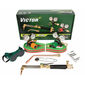 Victor® Model G250AF-540/510LP Medalist® Medium Duty Propane/Natural Gas Cutting/Welding Outfit CGA-540/CGA-510LP With CA411-3 Cutting Attachment