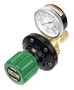 Victor® Model EST4-125-024 EDGE™ Series Heavy Duty Oxygen Pipeline Station Regulator With Green SLAM™ Safety Knob And Built-In Gauge Guard, CGA-024