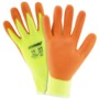 West Chester 2X PosiGrip® Cut Resistant Orange Foam Nitrile Palm And Finger Coated Work Glove With Hi-Viz Yellow Seamless Knit HPPE Liner And Knit Wrist