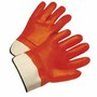 West Chester Large PVC Work Gloves With Jersey Liner And Starched Safety Cuff