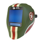 ArcOne® Vision® Green/Red/White Welding Helmet Variable Shades 7, 5 - 14 Auto Darkening Lens, Xtreme® Digital And Tank Graphics