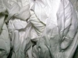 Y-pers White Cotton T-Shirt Rags (50 Pounds Per Case)