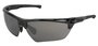 Crews Dominator™ 3 Black Safety Glasses With Black Bossman™ Mirror/Polarized/Hard Coat Lens