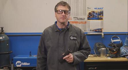 picture of welder practicing technique in classroom
